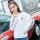 Rainbow Embroidered Pullover
