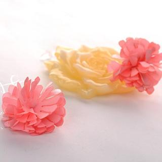 Pink Flower Earrings  Pink - One Size
