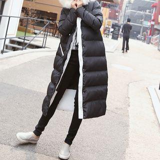 Furry Hooded Padded Coat