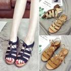 Low Heel Strappy Sandals
