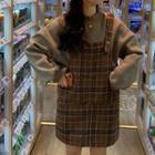 Plain Hoodies / Plaid Jumper Dress