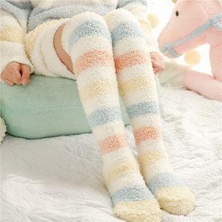 Striped Fleece Stockings