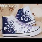 Waves High-top Canvas Sneakers