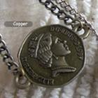 Copper Vintage Coin Short Necklace