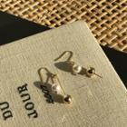 Metallic Drop Earrings Gold - One Size