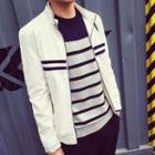 Long-sleeve Striped Jacket