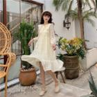 Doll Lace Flared-sleeved Dress