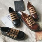 Faux-leather Velcro Flats