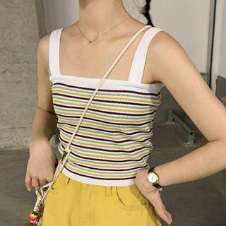 Contrast-stripe Knit Camisole