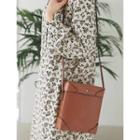 Square Faux-leather Crossbody Bag