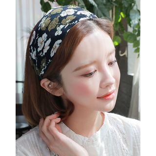 Floral Chiffon Wide Hair Band
