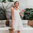 Sleeveless Cut-out A-line Dress