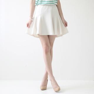 Band-waist A-line Skirt