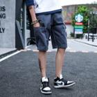 Loose-fit Pocketed Cargo Shorts