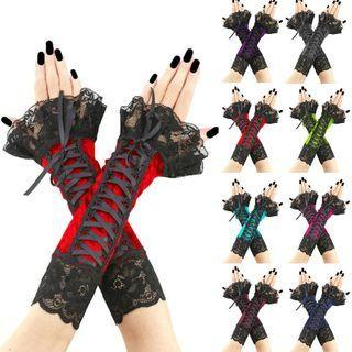 Lace Party Fingerless Gloves