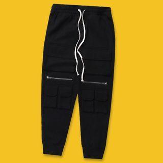 Zip-detail Harem Pants
