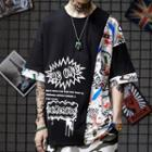 Graffiti Elbow-sleeve T-shirt
