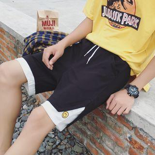 Smiley-face Colorblock Shorts
