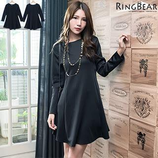 Long Sleeve Plain Dress