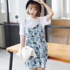 Printed Jumper Skirt