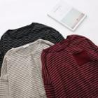 Drop-shoulder Striped Pullover