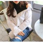 Inset Turtle-neck Top Shirt