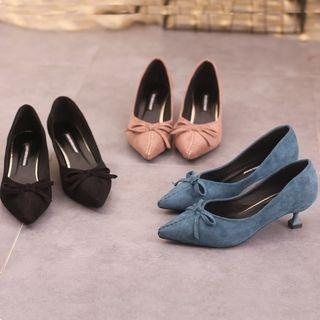 Bow-accent High-heels