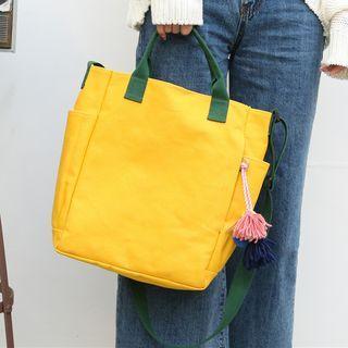 Color Panel Canvas Tote Bag