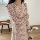 Round-neck Floral Long Dress