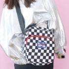 Plaid Canvas Shoulder Bag