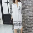 Patterned Midi T-shirt Dress