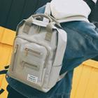 Zipper Detail Canvas Backpack