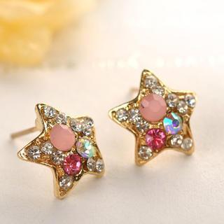 Star Earrings  Gold - One Size