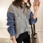 Color Panel Stripe Shirt