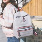 Canvas Striped Trim Backpack