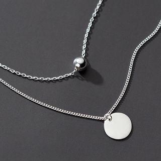 Layered Necklace S925 Silver - As Shown In Figure - One Size