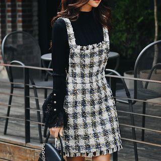 Tweed A-line Jumper Dress