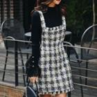 Tweed A-line Jumper Dress