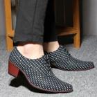Chunky-heel Check Oxfords