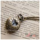 Cutout Heart Watch Necklace