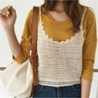 Open-knit Camisole Top