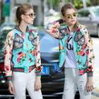 Printed Applique Zip Jacket
