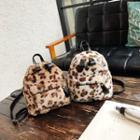 Animal Print Fleece Backpack