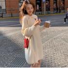 Asymmetric Polo Knit Dress