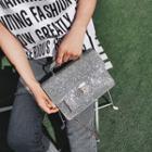 Glitter Buckled Shoulder Bag