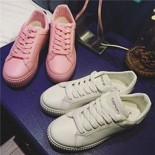 Platform Plain Sneakers
