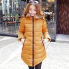 Fleece-lined Hooded Padded Coat