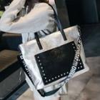 Studded Carryall Bag / Tote Bag