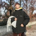 Long Buttoned Padded Coat