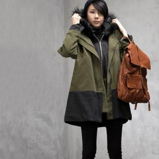Color-block Zip-up Jacket